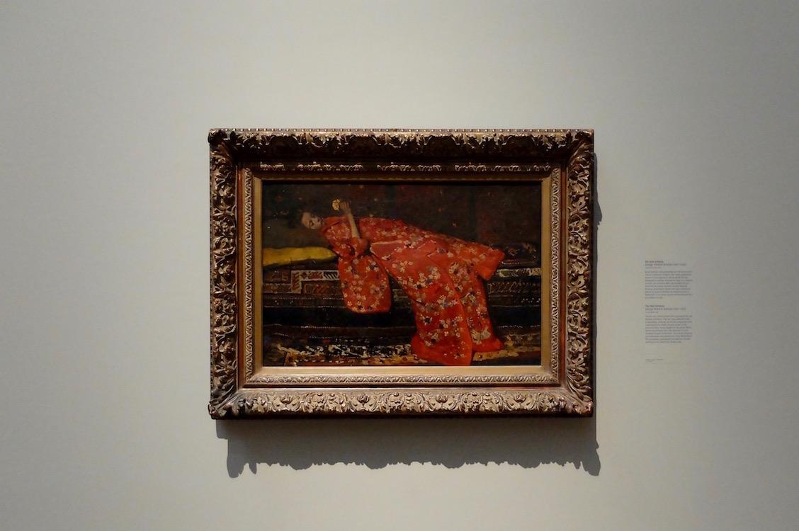 Meisje in rode kimono Breitner. Rijksmuseum Amsterdam.