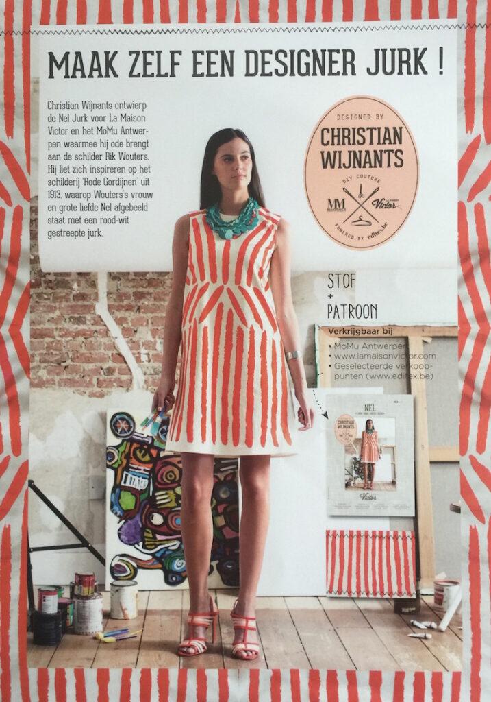 Flyer: Maak zelf een designer jurk! Van Christian Wijnant als ode aan Rik Wouters.
